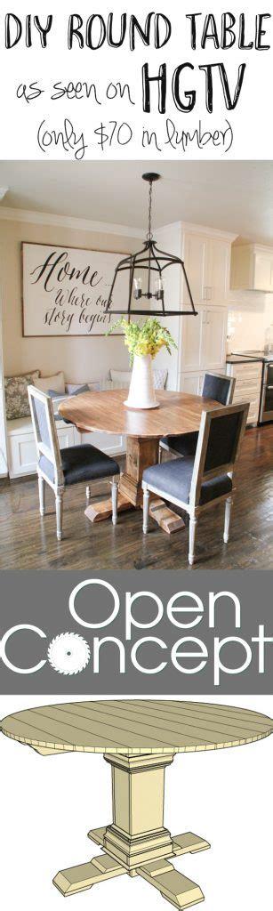 diy  table    hgtv open concept shanty  chic