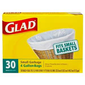 glad small garbage bags 4 gallon 30 ct target