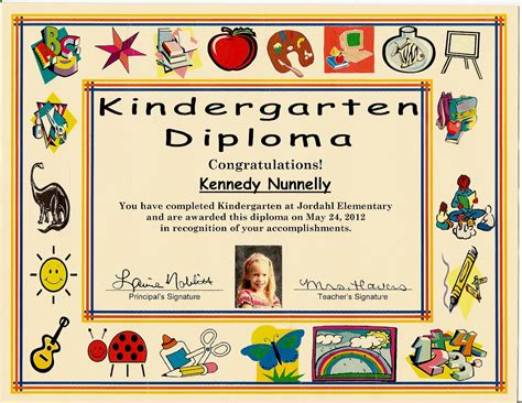 templates for preschool graduation certificates kindergarten graduation certificate of 1 certificate pre