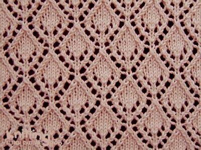 diamond pattern in turbo c eyelet lace stitches knitting stitch patterns just