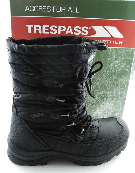 trespass mens snow boots mens trespass yetti waterproof thermal snow apres ski
