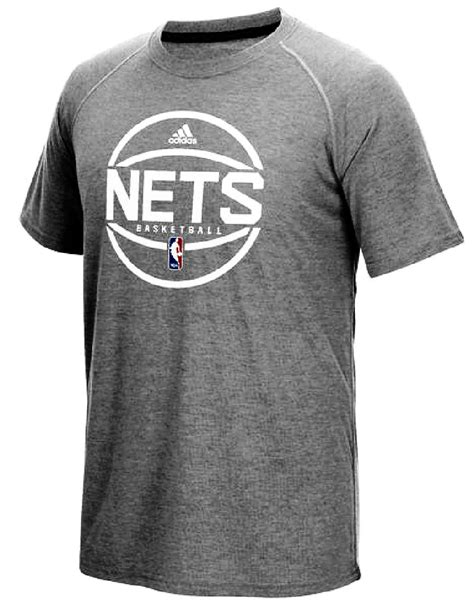 Brooklyn Nets Adidas Slim-Fit Grey Pre-Game Ultimate