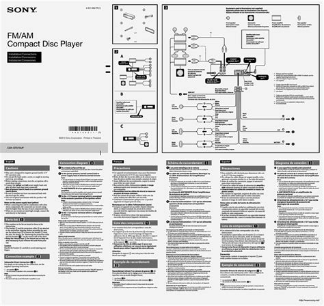 wiring diagram sony xplod cd player diagram free printable