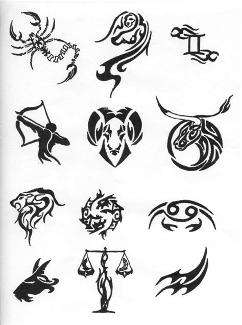 tribal horoscope tattoos tribal zodiac tattoos ideas by bighood zodiac