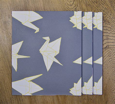 origami crane pattern origami cranes gift wrap set by sparrow wolf