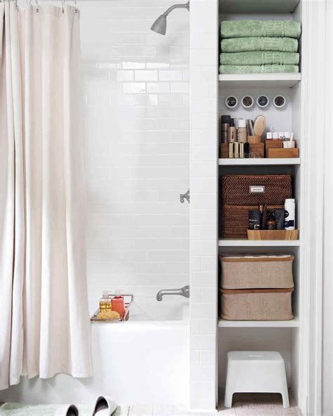 storage bathroom ideas smart space saving bathroom storage ideas martha stewart