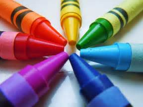color crayons is everywhere