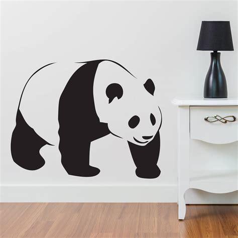 Polka Dots Wall Stickers panda silhouette