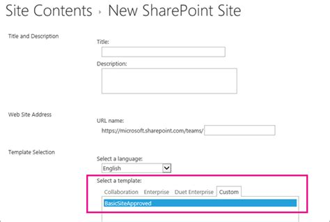 create sharepoint site template create and use site templates sharepoint
