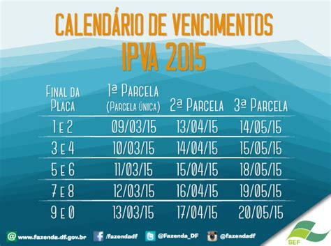 Calendario Ipva 2015 Calend 225 Ipva 2015