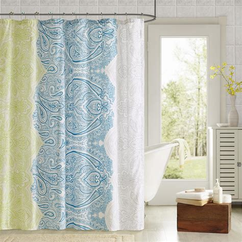 Printed Shower Curtain by 90 176 By Design Lab Printed Shower Curtain And Hook