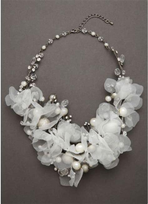 Wedding Bouquet Necklace by Floral Bouquet Necklace Davids Bridal