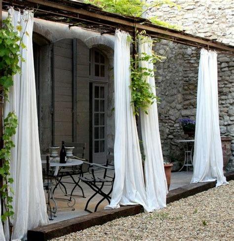 terrasse vorhang vorhang als raumtrenner verwenden kluge wohnideen