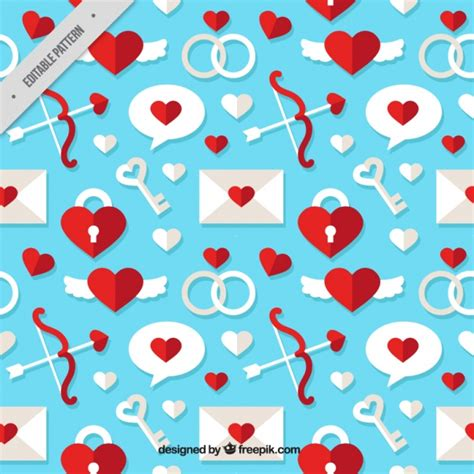 svg pattern object decorative pattern with envelope and valentine objects