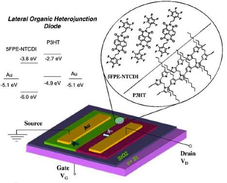 an organic light emitting diode with field effect electron transport field effect tuned lateral organic diodes materials science and engineering