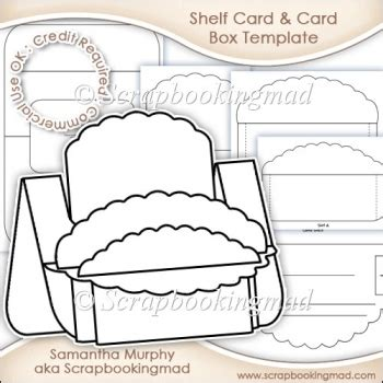 8x8 Card Box Template by Large Shelf Card Card Box Template Commercial Use Ok 163