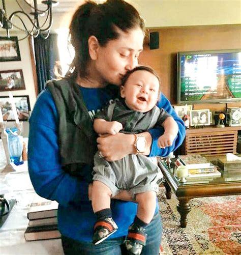 karina kapoor with son pic this photo of kareena kapoor khan kissing her son taimur