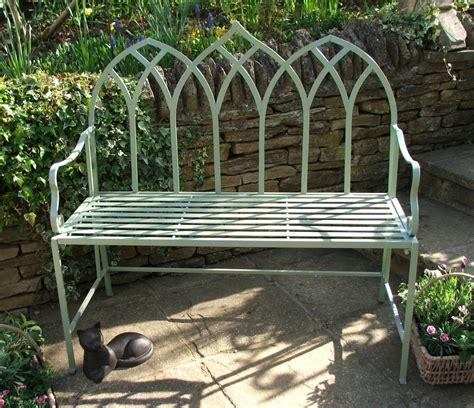 gothic garden bench gothic green bench