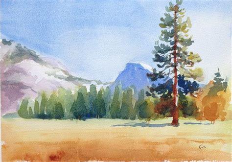 tutorial watercolor landscape watercolor landscape painting 5 step tutorial more