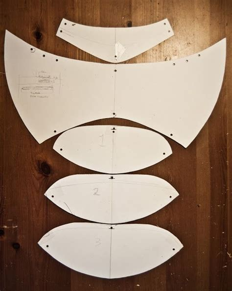 pattern making leather shoulder pads cosplay pinterest
