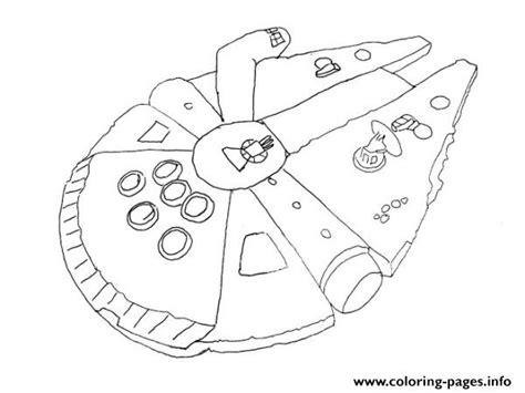 star wars millennium falcon coloring page simple millenium falcon star wars ship coloring pages