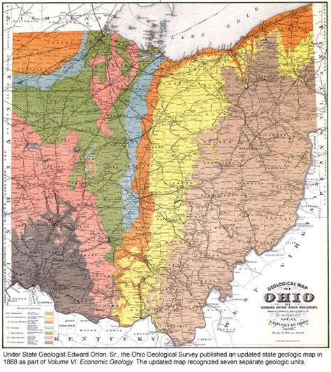 geographical map of ohio historic timeline of the ohio geological survey
