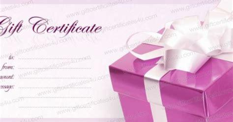 diy voucher template pink box gift certificate template diy gift certificate