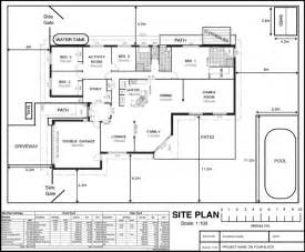 site floor plan site plan on your block