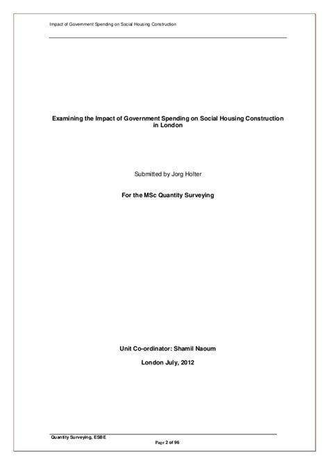 quantity surveying dissertation quantity surveying dissertation best free home