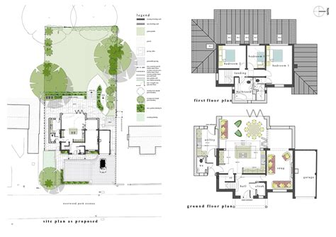 site floor plan residential development and extension in leek