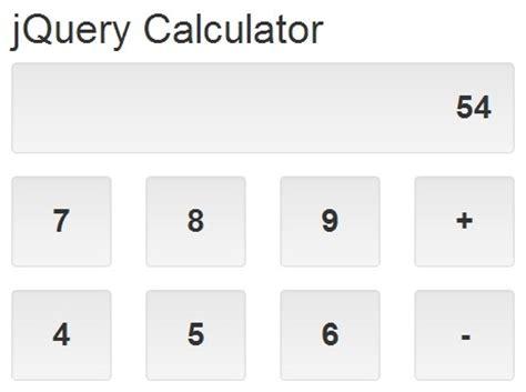 Calculator Using Jquery | responsive mobile friendly jquery calculator plugin