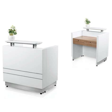 Oem 2014 Hot Sale New Design Salon Spa White Paint Small Front Reception Desk Furniture