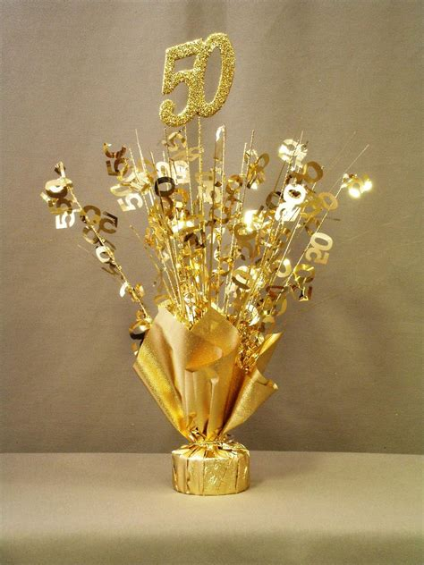 gold 50 table centerpiece doolins