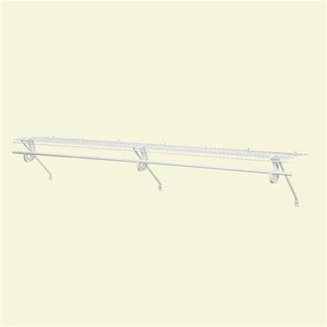 Ventilated Wire Shelf Kit Closetmaid Superslide 72 In X 12 In Ventilated Wire