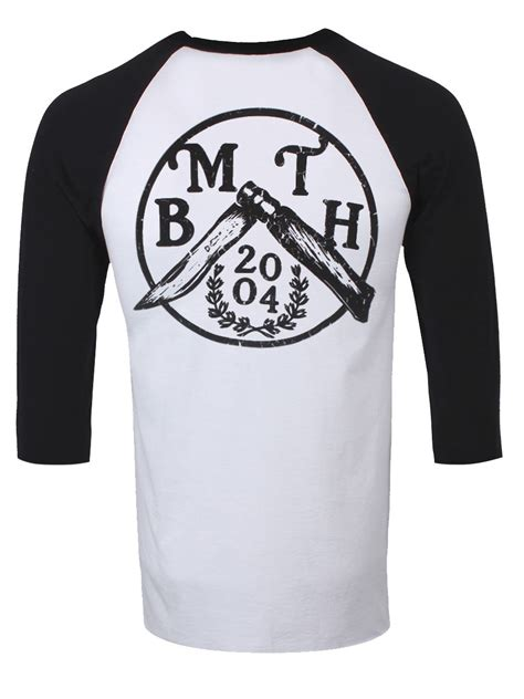 Topi Baseball Bmth Bring Me The Horizon 2 Keren Trucker Alfamerch 3 bring me the horizon knife s black white baseball t shirt l 40 42 quot