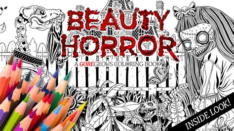 the of horror a goregeous coloring book take a creepy look inside idw s the of horror a