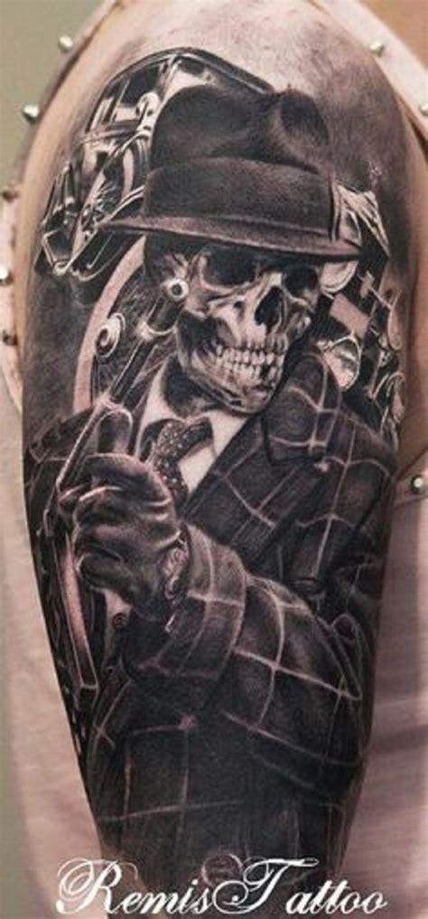 black and grey gangster tattoos 16 gangsta tattoos on half sleeve