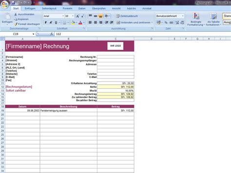 Muster Rechnung Mit Anzahlung Rechnung Mit Abzug Anzahlung Excelvorlage De
