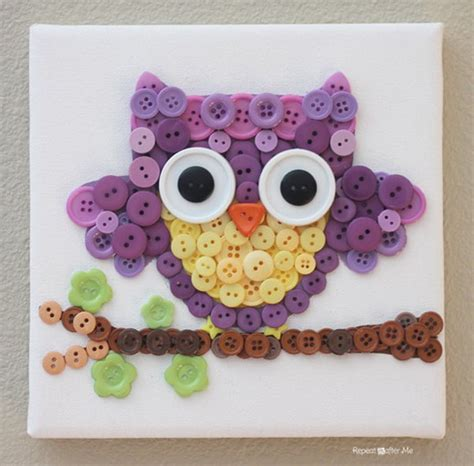 craft projects with buttons and diy button crafts hative