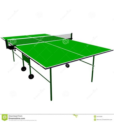 free ping pong table ping pong green table tennis stock vector image 34131565
