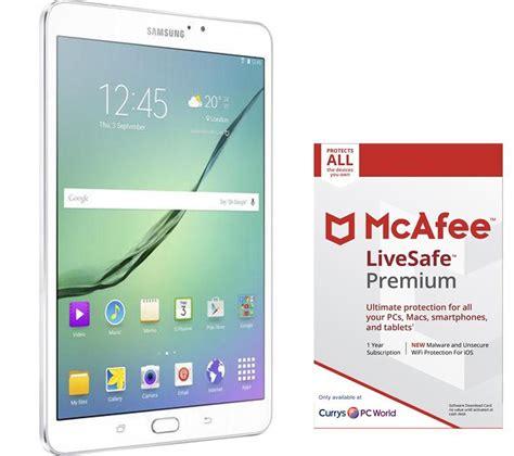 Samsung Galaxy Tab S2 7 9 White buy samsung galaxy tab s2 9 7 quot tablet livesafe premium