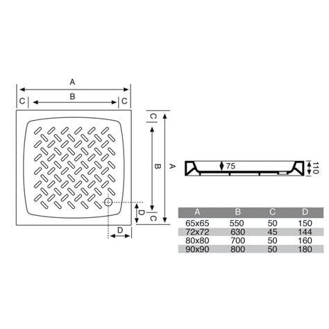 piatti doccia on line piatto doccia 80x80 cm quadrato in porcellana vendita