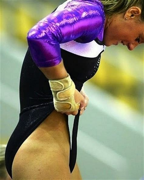 gymnast wardrobe malfunction gymnastics gymnast adjusting her uniform fun funny awkward