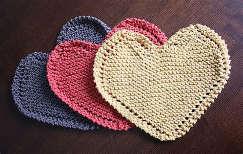 Heart Shaped Dishcloth Pattern | heart shaped dishcloths pattern knitting and crochet