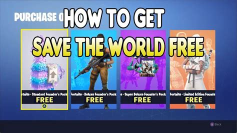 How To Save The World how to get save the world free on fortnite updated tut