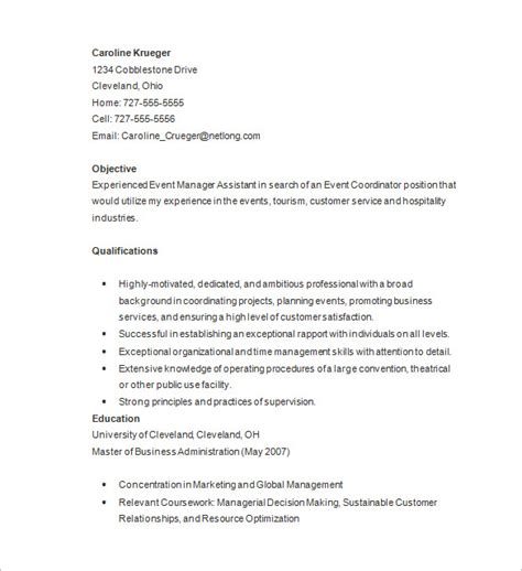 resume format for freshers event management 10 event planner resume templates doc pdf free premium templates