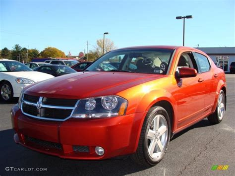 2008 sunburst orange pearl dodge avenger r t 39059652 gtcarlot car color galleries