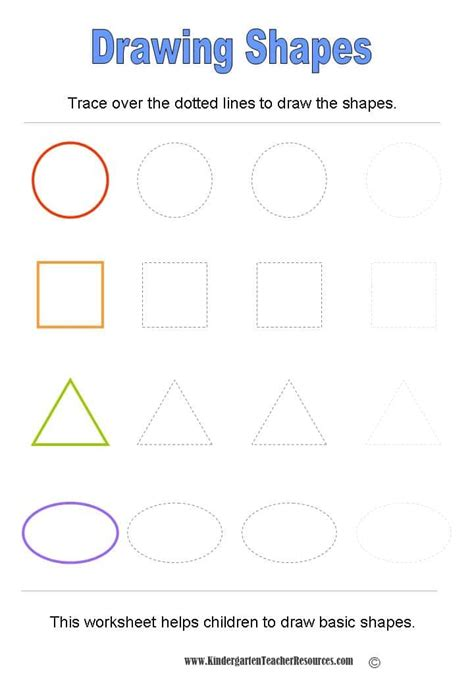 worksheets using shapes basic shapes worksheets