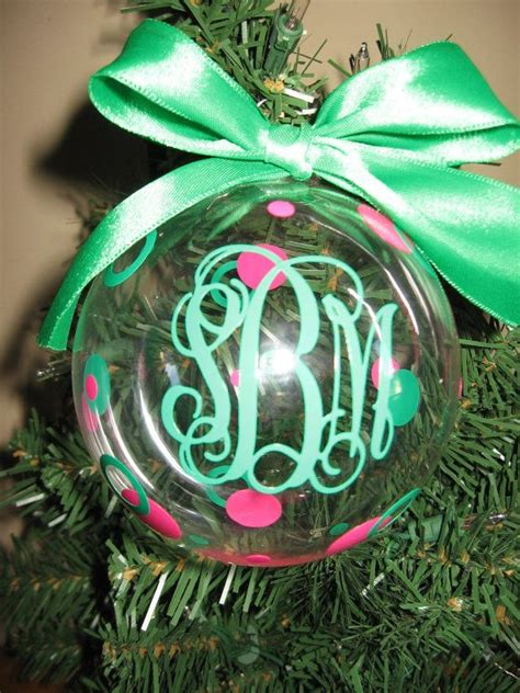 personalized monogram christmas ornament