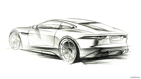 F Drawing Design by Initial Hi Res F Type Sketches Jaguar Forums Jaguar